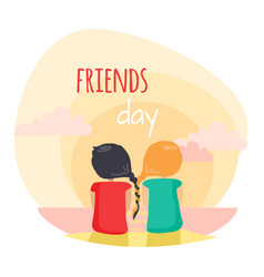 Friendship fun pastime with loved reliable friend vector