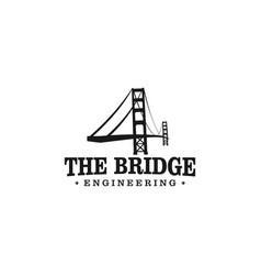 Golden gate bridge engineering logo design vector