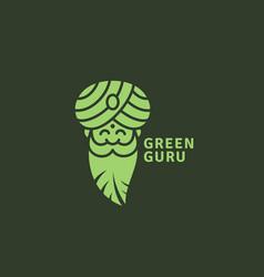 Green guru logo vector