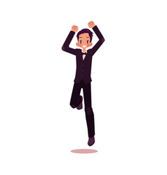 Groom dancing happily isolated vector