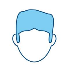 guy faceless head vector image