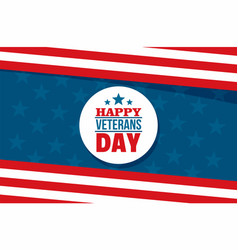 happy veterans day concept background flat style vector image