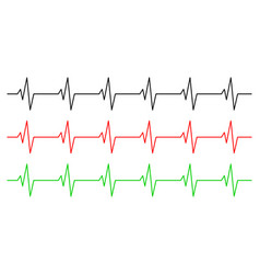 heart rhythm ecg line symbol icon design vector image