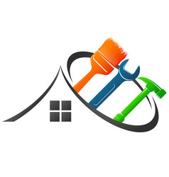 House maintenance tool symbol vector