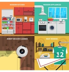 Household Appliances Concept Icons Set vector