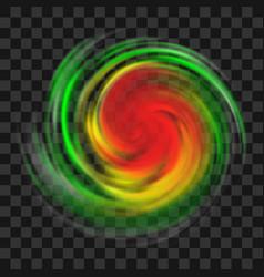 Hurricane symbol on transparent background vector