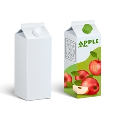 Isolated Carton Juice Packages vector