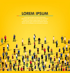 Large group people background vector