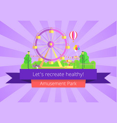 lets recreate healthy poster vector image