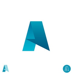 Letter A logo Arrow half paper ribbon concept vector