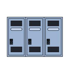 lockers row icon image vector image