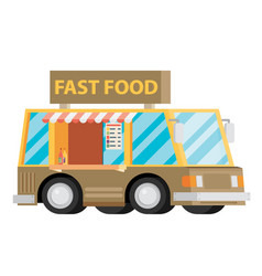 mobile food car vector image