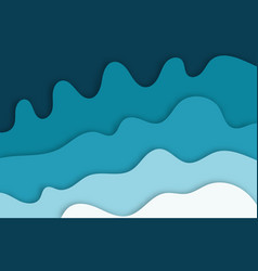 multi color paper layers 3d papercut on blue vector image