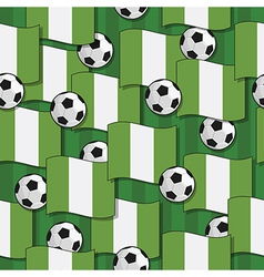 nigeria football pattern vector image