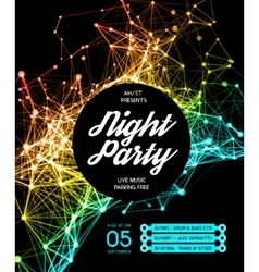 Night Disco Party Poster Background vector image