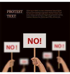 Poster on the theme protest disagreement vector