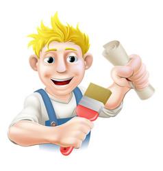 qualified painter decorator vector image