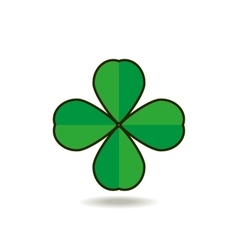 Quatrefoil clover for good luck icon vector image