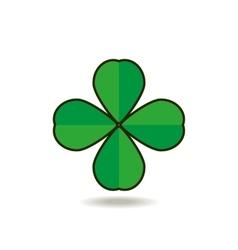 Quatrefoil clover for good luck icon vector