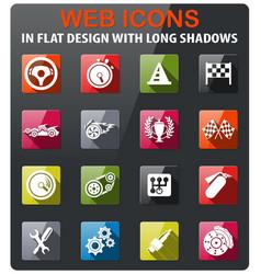 Racing icon set vector