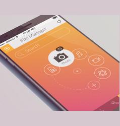 Realistic mobile screen design concept vector