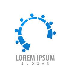 Rotate human connect concept design symbol vector