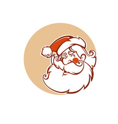 santa claus image in cartoon style vector image
