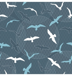 Seamless pattern with seagulls vector
