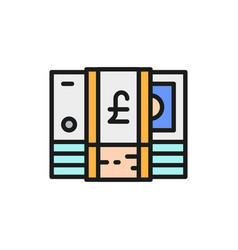 stack english pound gbp british currency vector image