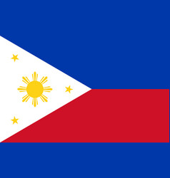 stock flag philippines vector image