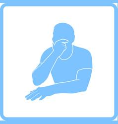 thinking man icon vector image