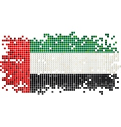 United Arab Emirates grunge tile flag vector
