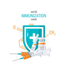 Vaccination concept image in flat style vector