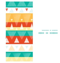 Vibrant ikat stripes vertical frame vector