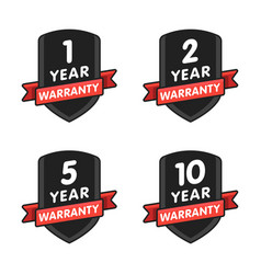 warranty star icon set isolated on white vector image