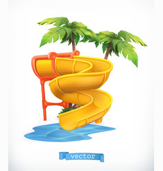 Water slide 3d icon vector