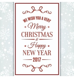 We wish you merry christmas and happy new year vector