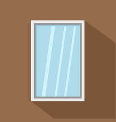 white window frame icon flat style vector image