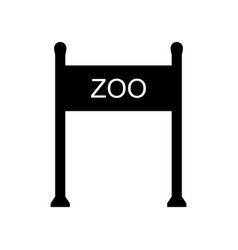 Zoo gate icon vector