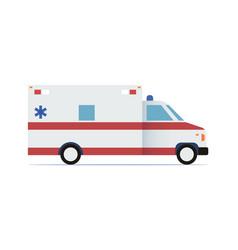 ambulance car flat design icon vector image vector image