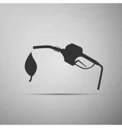 Bio fuel symbol icon vector image