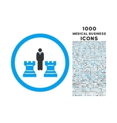 Chess Strategy Rounded Icon with 1000 Bonus Icons vector image