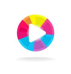 Play button symbol Colorful bright design Easy vector image vector image