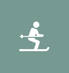 ski icon simple vector image vector image