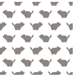 a seamless wolf pattern vector image vector image