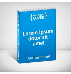 Blue book cover over white background vector image vector image