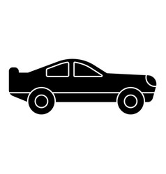 car racing retro icon black vector image