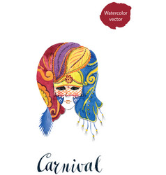 carnival venetian party mask vector image vector image