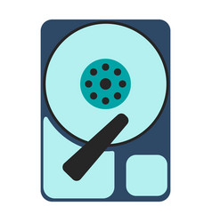 hdd icon flat vector image vector image