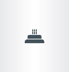 birthday cake with candles icon vector image